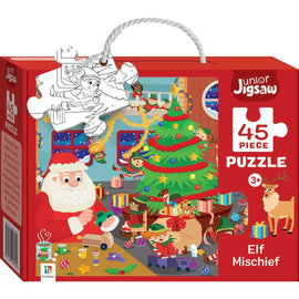 Junior Jigsaw 45 Piece Puzzle: Elf Mischief
