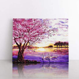 Paint By Numbers- 50x70cm  Pink blossom