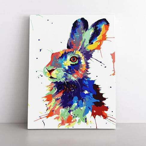 PaintbyNumber-60x80cm  Pop Art Hare