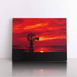 60x80cm  Red skies