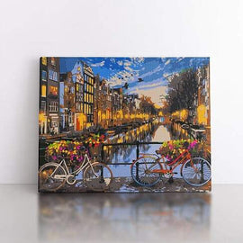 Paint By Numbers- 40x50cm  A ride through Amsterdam