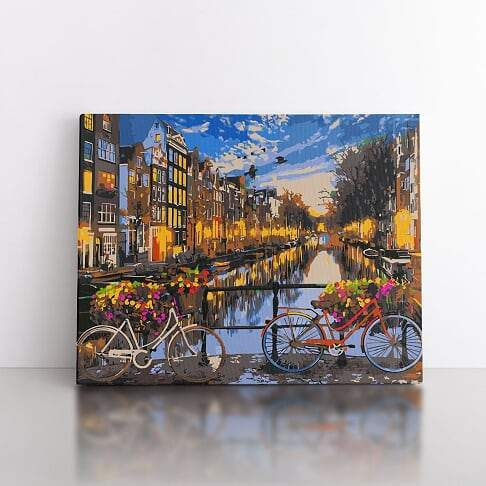 60x80cm  A ride through Amsterdam