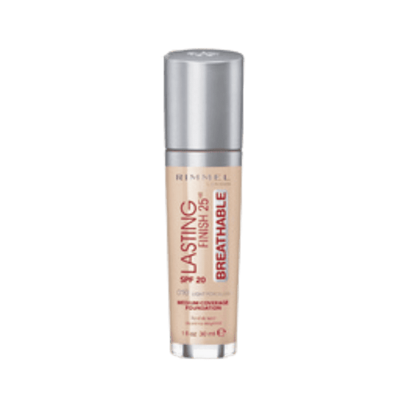Rimmel London 30Ml Lasting Finish 25Hr Foundation 010 Light Porcelain Spf20 (Non Carded)