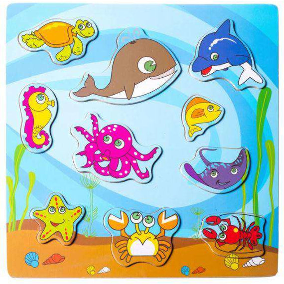 Kids wood Puzzle- Sea World-Turtle gang