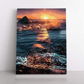 PaintbyNumber-50x70cm  Sunset over water