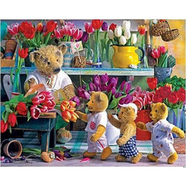 Diamond Art Picture Half Drill Size 30X40 Teddy Bears