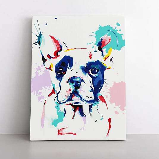 PaintbyNumber-60x80cm  That Frenchie Love