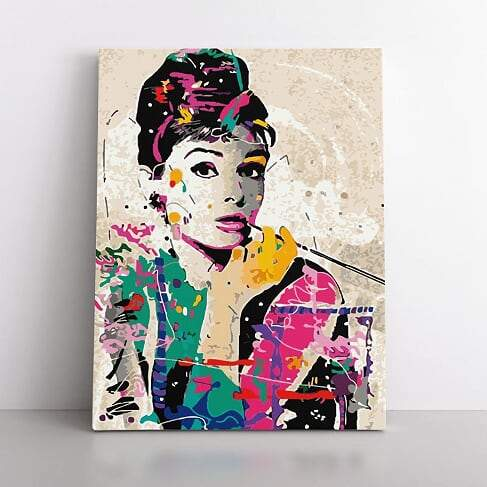 Paint By Numbers- 40x50cm  That hepburn vibe