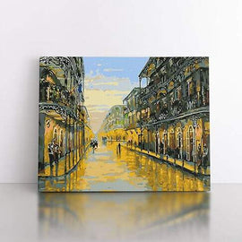 60x80cm  The French quarter