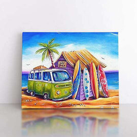 PaintbyNumber-40x50cm  The surfers Combi