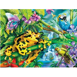 Diamond Art Picture Half Drill Size 30X40 Toad & Parrots