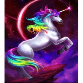 Diamond Art Picture Half Drill Size 30X40 Unicorn