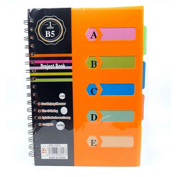 B5 120 Page Project Notebook (Orange)