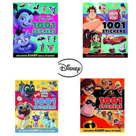 Disney 1001 Stickers Pack Set (4 Books)