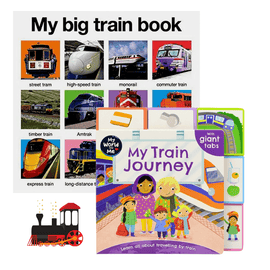 Little Kid Train Lover's Book Bundle (2 Books)