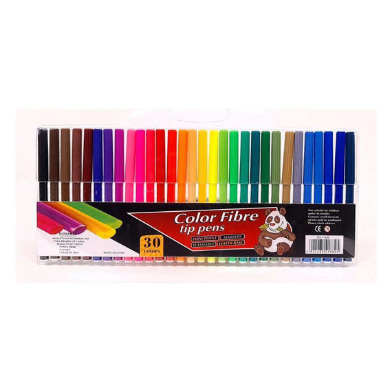 Color Fibre Tip Pens - 30 Colors
