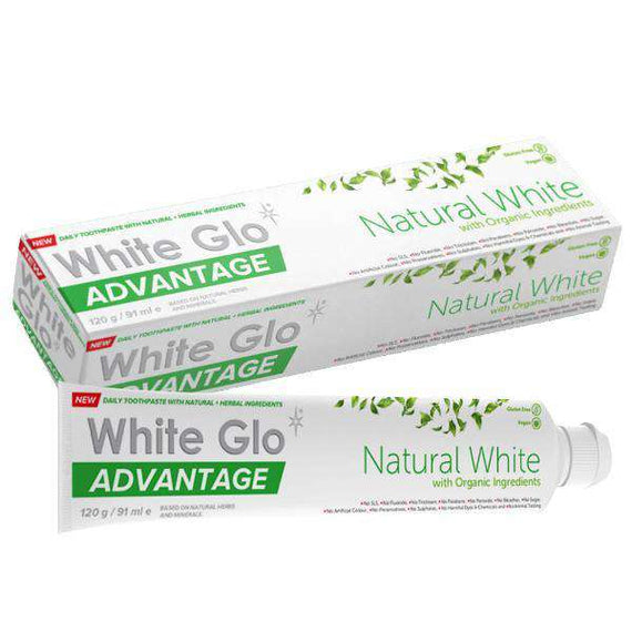 White Glo Pure & Natural Whitening Toothpaste 120g