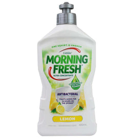 Morning Fresh 400Ml Dishwashing Liquid Antibacterial Ultra Concentrate Lemon