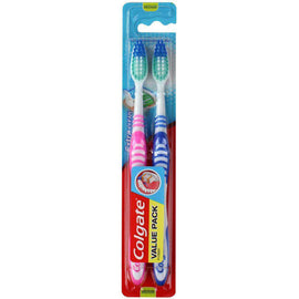 Colgate Pk2 Toothbrushes Extra Clean Medium
