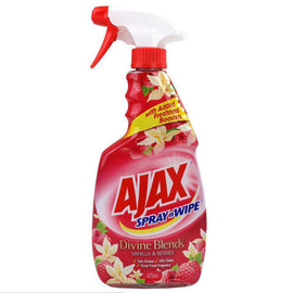 Ajax 475Ml Spray N Wipe Divine Blends Vanilla & Berries