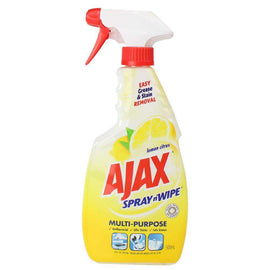 Ajax 500Ml Spray N Wipe Trigger Multi Purpose Lemon Citrus
