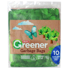 Multix  Pk10 Greener Garbage Bags Extra Wide Degradable 56L 80Cm X 70Cm