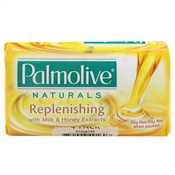 Palmolive Pk4 X 90G Soap Bars Replenishing With Milk & Honey Extracts