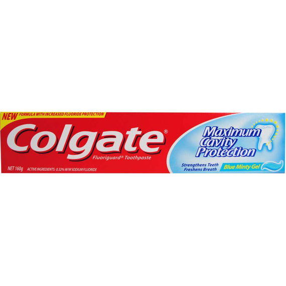 Colgate 160G Toothpaste Maximum Cavity Protection Blue Minty Gel