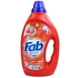 Fab 1L Laundry Liquid Front & Top Loader Fresh Blossoms