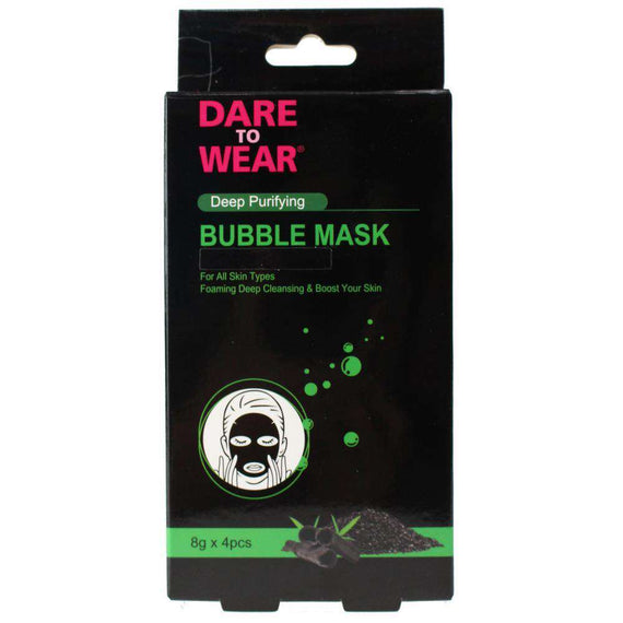 Dare To Wear Pk4 X 8G Bubble Detoxifying Mask Charcoal (Hang Sell)