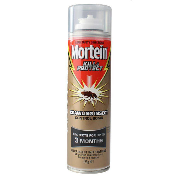 Mortein 125G Kill & Protect Crawling Insect Control Bomb