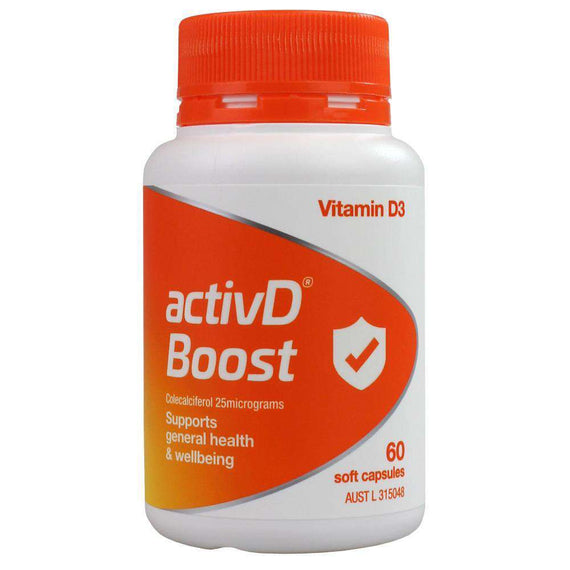 Activd Pk60 Boost Vitamin D3 Supports General Health & Wellbeing