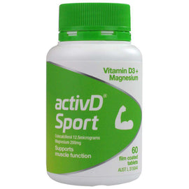 Activd Pk60 Sport Vitamin D3+ Magnesium Supports Muscle Function