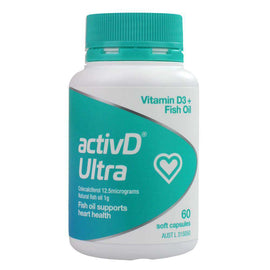 Activd Pk60 Ultra Vitamin D3+ Fish Oil Supports Heart Health