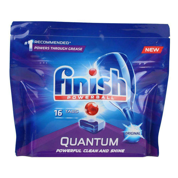 Finish Pk16 Quantum  Powerball Dishwashing Tablets Original  (Au)