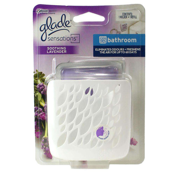 Glade Sensations Holder & Gel Refill Bathroom Soothing Lavender