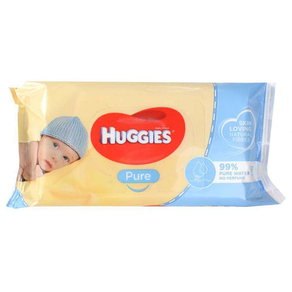 Huggies Pk56 Baby Wipes Pure Unscented Sticky Top