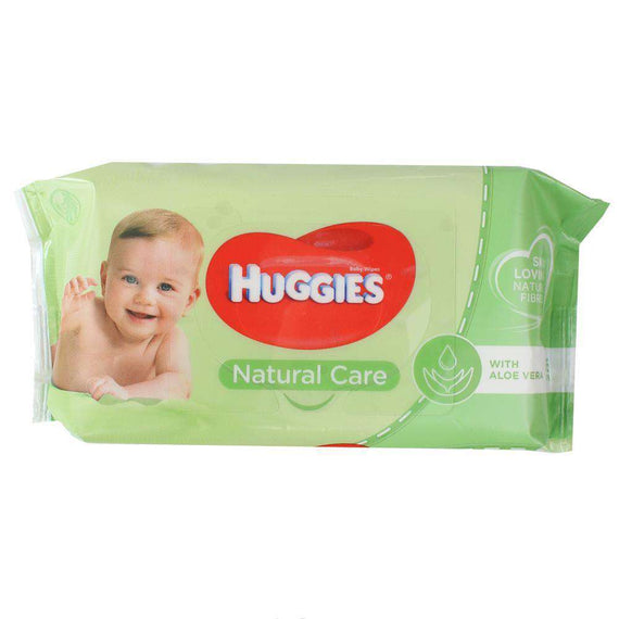 Huggies Pk56 Baby Wipes Natural Care Sticky Top