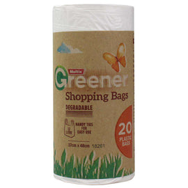 Multix  Pk20 Greener Plastic Bags Degradable 12L Small 37Cm X 48Cm