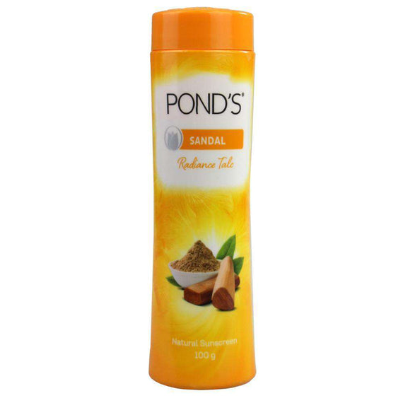 Ponds 100G Radiance Talcum Powder Sandal Natural Sunscreen