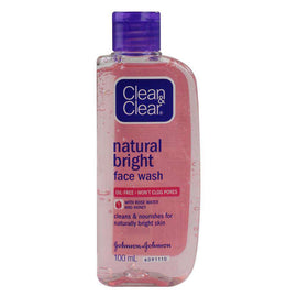 Clean & Clear 100Ml Natural Bright Face Wash With Rose Water And Honey