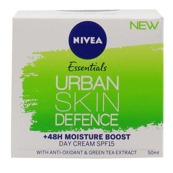 Nivea 50Ml Day Cream Essentials Urban Skin Defence Spf15