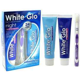 White Glo Night Gel & Day Toothpaste Pack