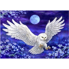 Diamond Art Picture Half Drill Size 30X40 White Owl