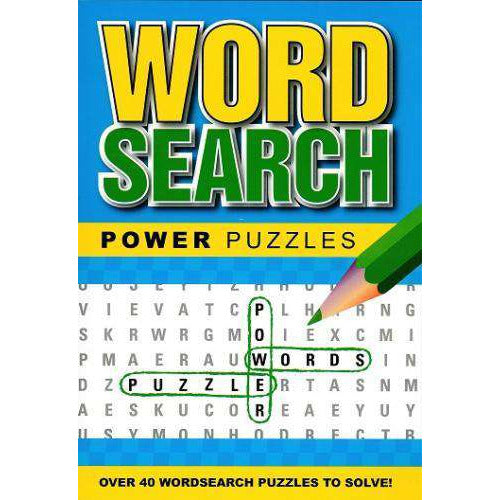Word Search Power Puzzles Blue