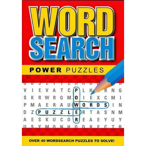 Word Search Power Puzzles Red