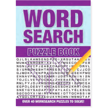 Word Search Puzzle Book Purple