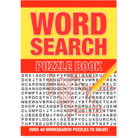 Word Search Puzzle Book Red-Orange