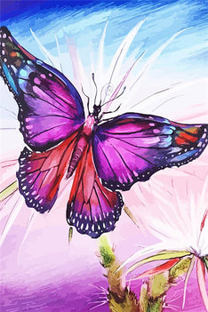 Diamond Art Picture Half Drill Size 15X20- Butterfly