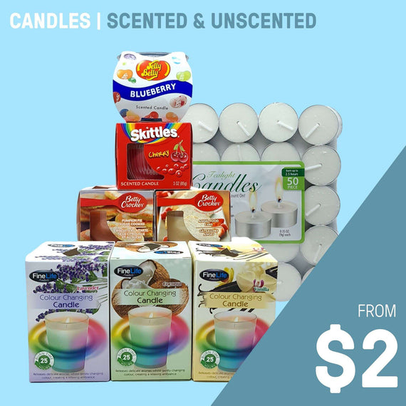 CANDLES | SCENTED & UNSCENTED